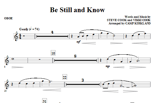 Camp Kirkland Be Still And Know - Bb Clarinet 1 & 2 sheet music notes and chords. Download Printable PDF.