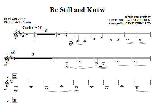 Camp Kirkland Be Still And Know - Cello sheet music notes and chords. Download Printable PDF.