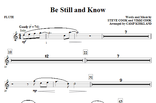Camp Kirkland Be Still And Know - Oboe sheet music notes and chords. Download Printable PDF.