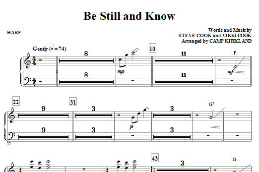 Camp Kirkland Be Still And Know - Violin 1, 2 sheet music notes and chords. Download Printable PDF.