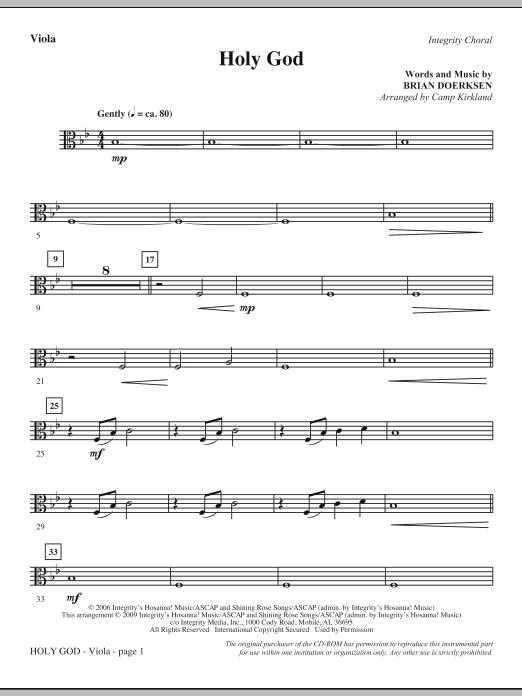 Camp Kirkland Holy God - Viola sheet music notes and chords. Download Printable PDF.