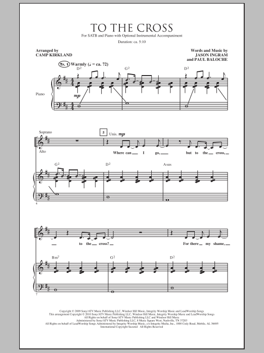 Camp Kirkland To The Cross sheet music notes and chords. Download Printable PDF.