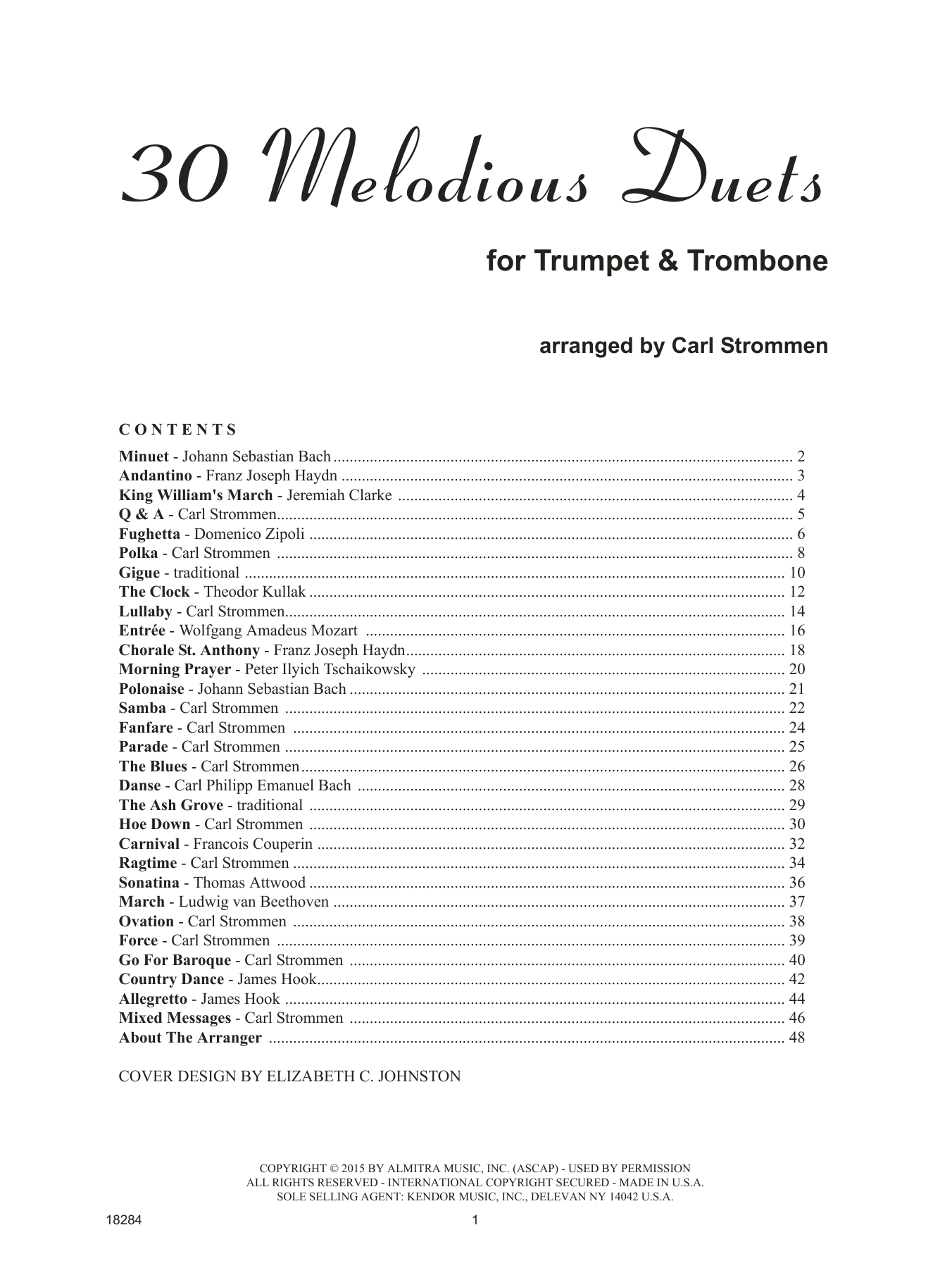 Carl Strommen 30 Melodious Duets (Trumpet & Trombone) sheet music notes and chords