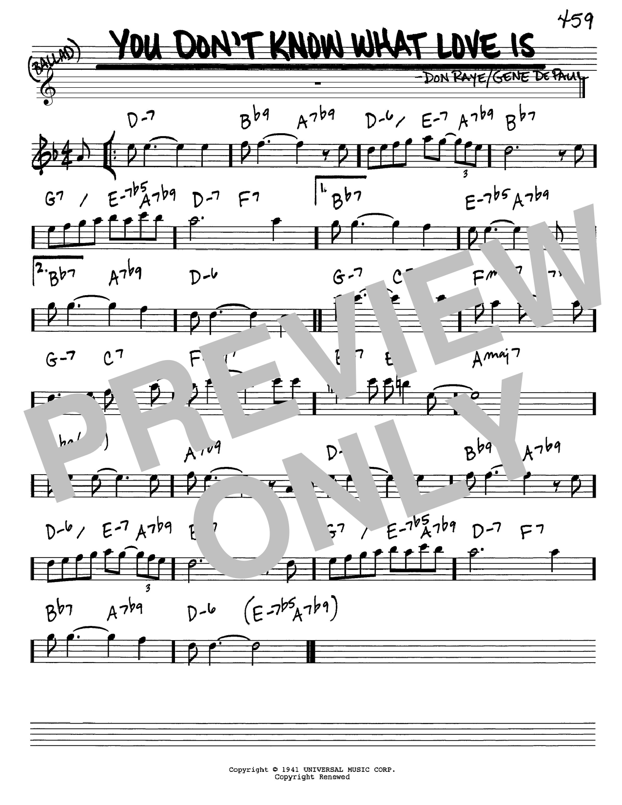 Carol Bruce You Don't Know What Love Is sheet music notes and chords. Download Printable PDF.