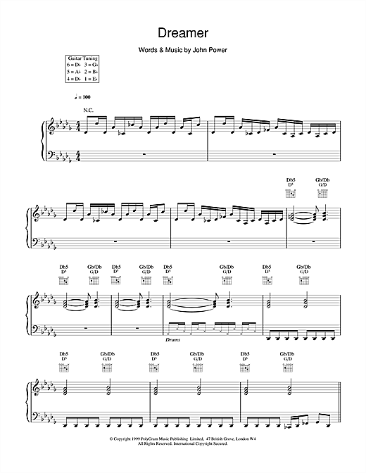 Cast Dreamer sheet music notes and chords