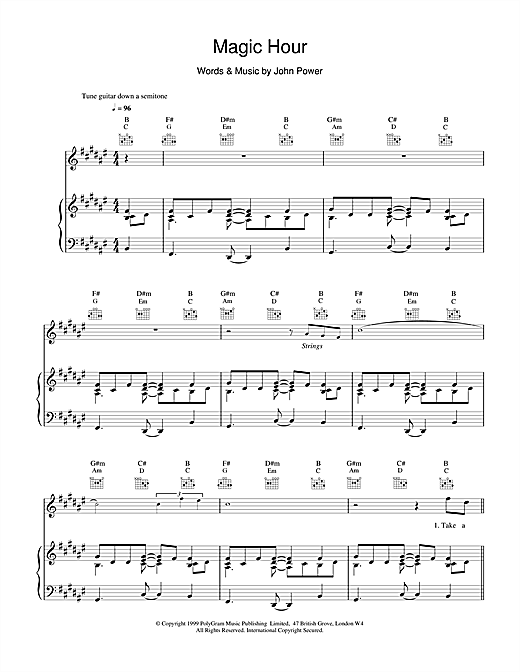 Cast Magic Hour sheet music notes and chords