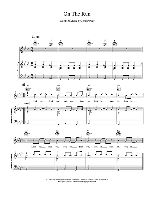 Cast On The Run sheet music notes and chords. Download Printable PDF.