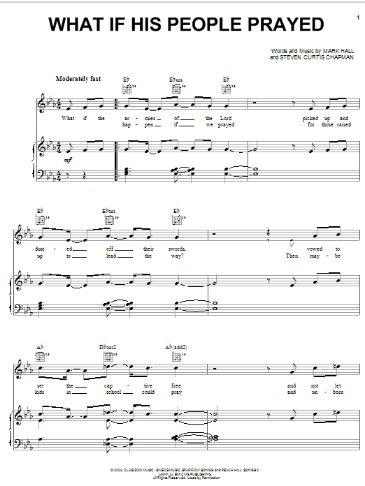 Casting Crowns What If His People Prayed sheet music notes and chords. Download Printable PDF.