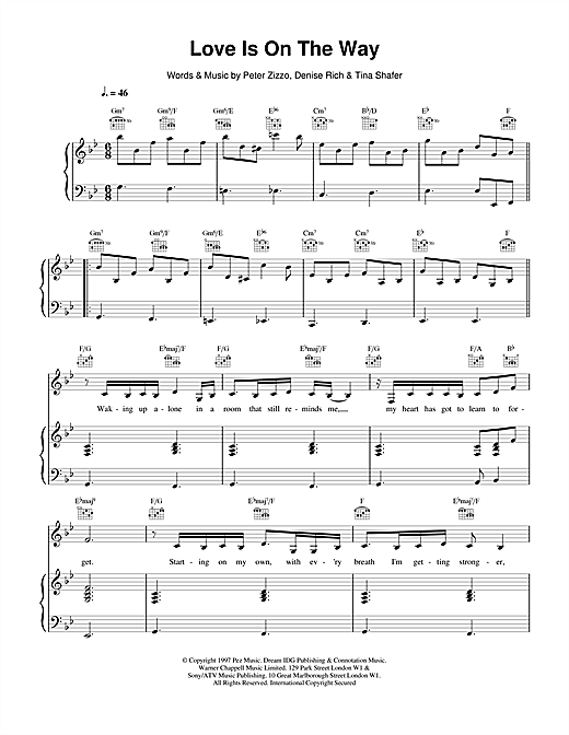 Celine Dion Love Is On The Way sheet music notes and chords. Download Printable PDF.