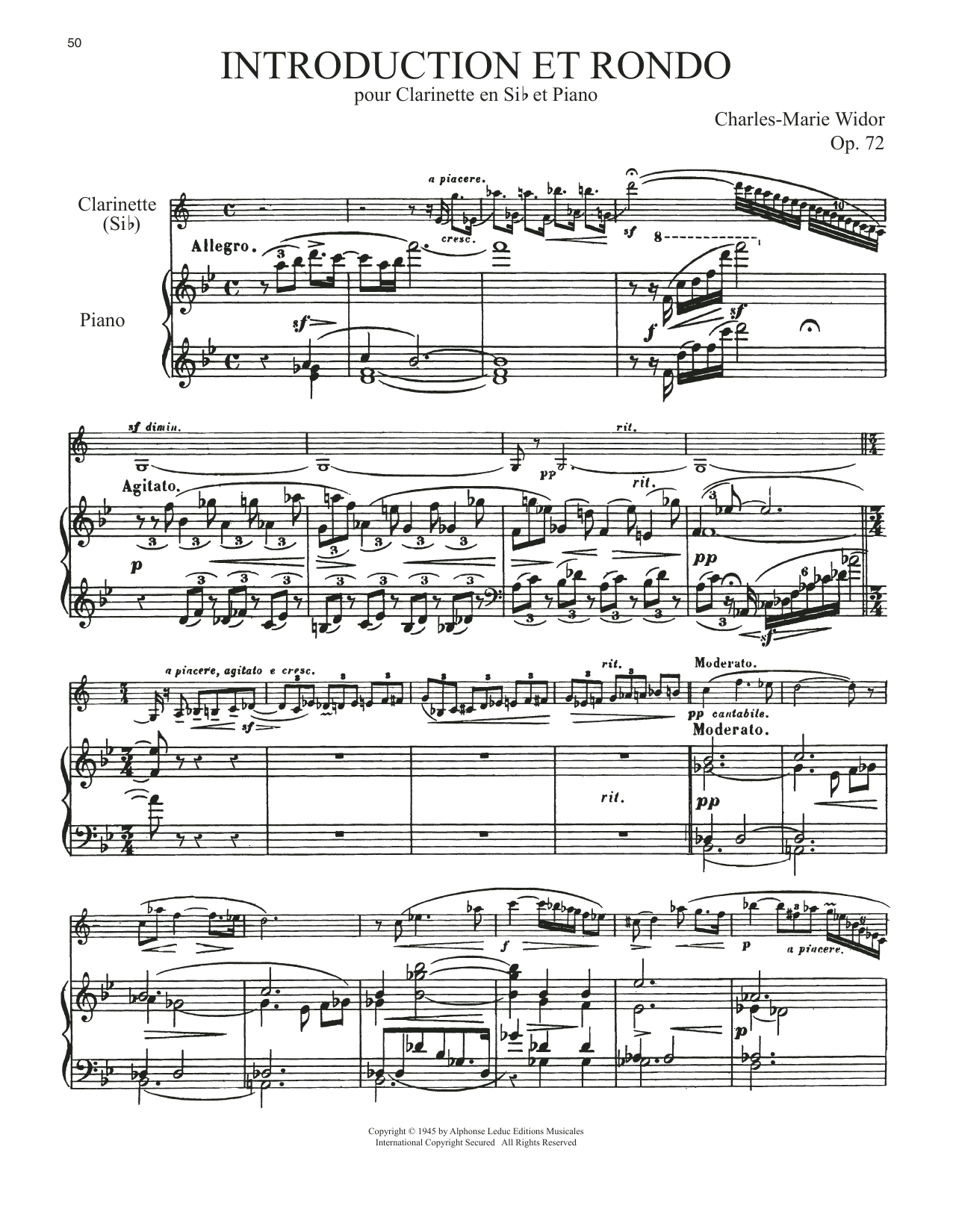 Charles-Marie Widor Introduction Et Rondo sheet music notes and chords. Download Printable PDF.