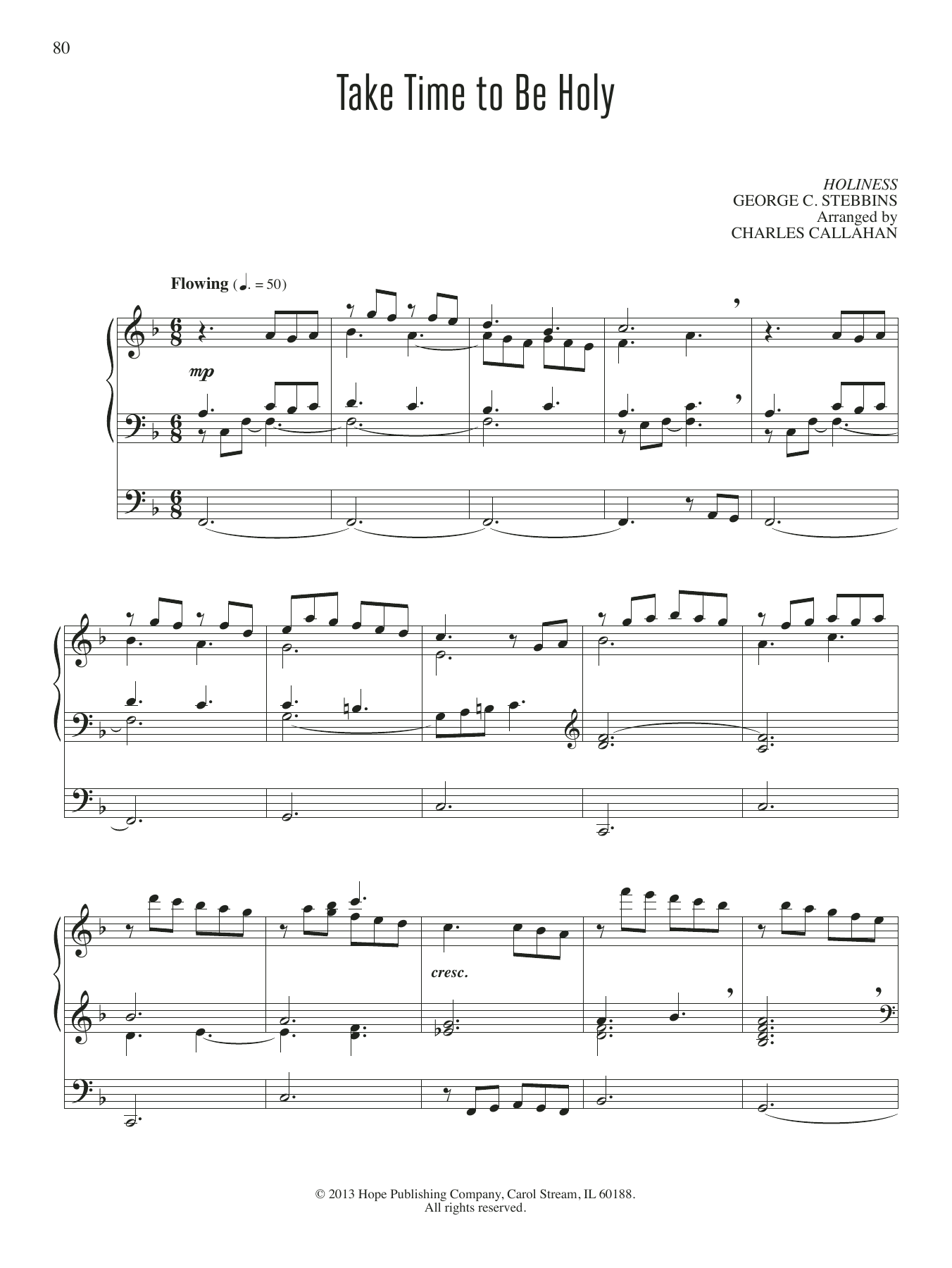 Charles Callahan Take Time To Be Holy sheet music notes and chords. Download Printable PDF.