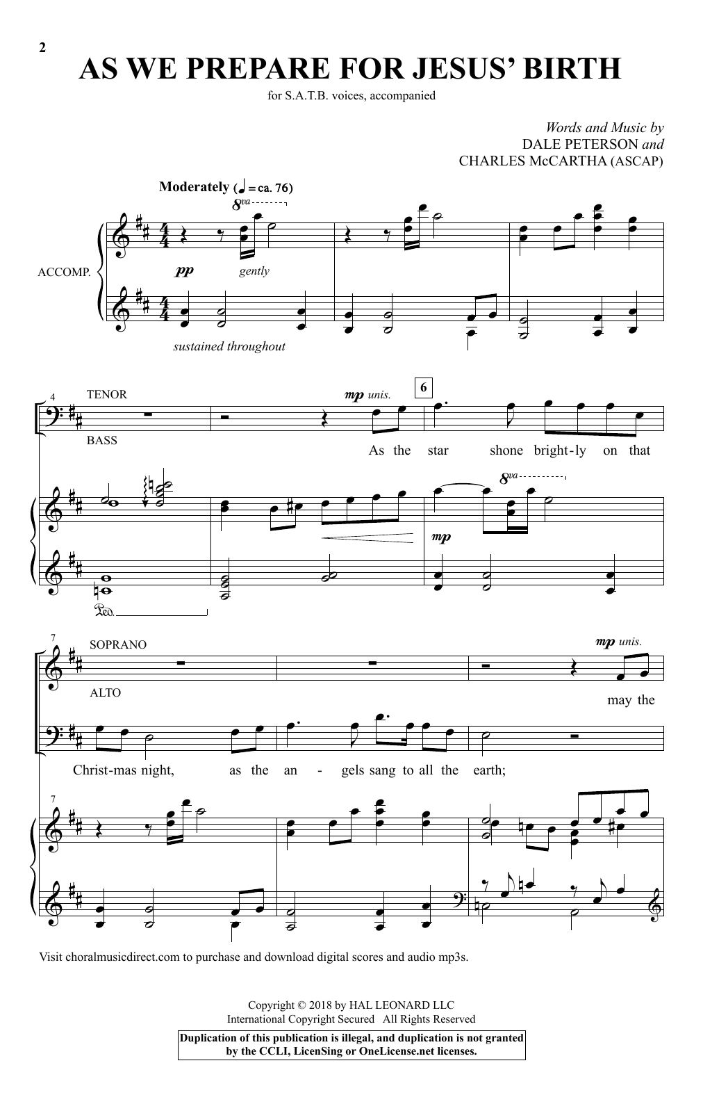 Charles McCartha As We Prepare For Jesus' Birth sheet music notes and chords. Download Printable PDF.