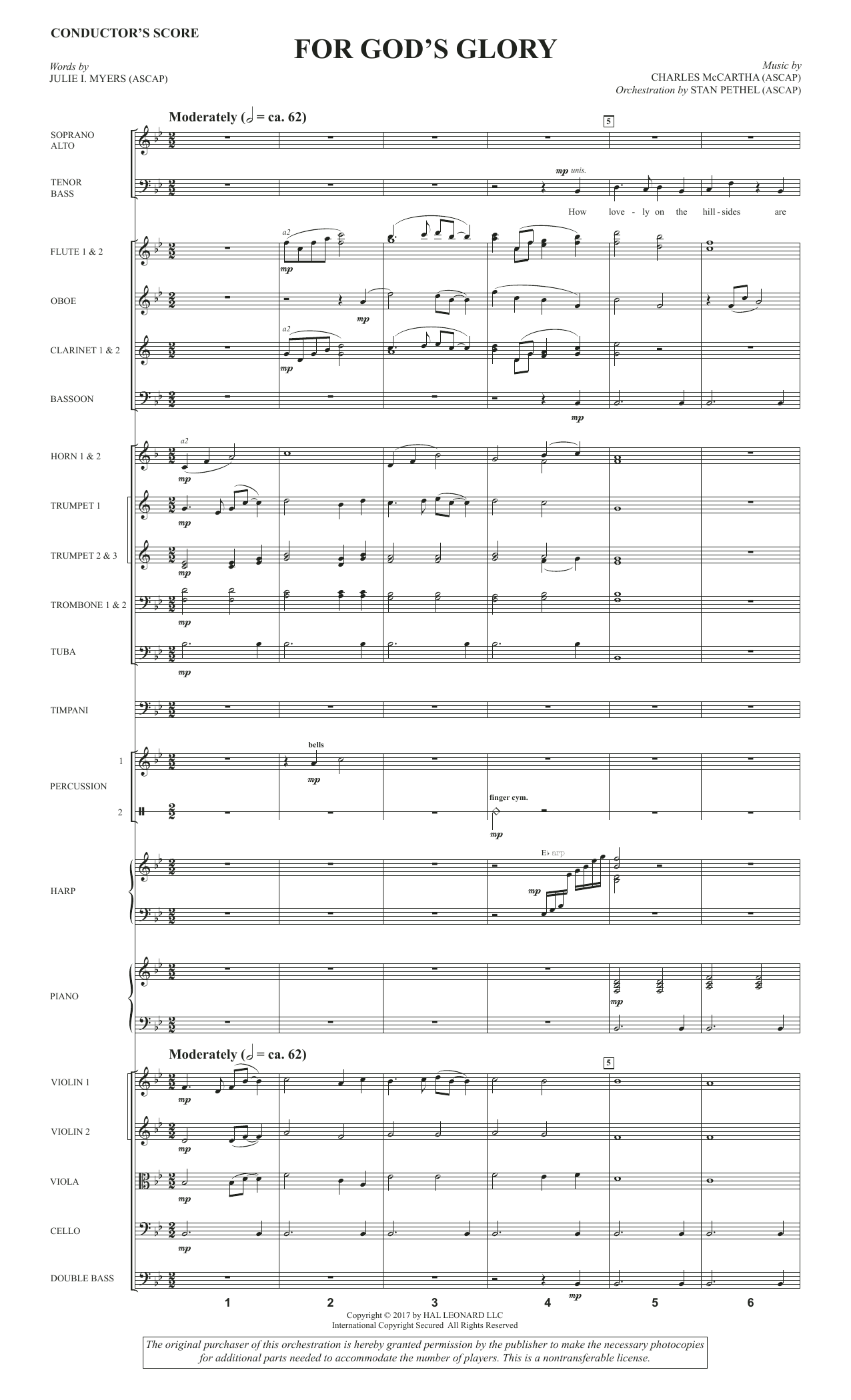 Charles McCartha For God's Glory - Full Score sheet music notes and chords. Download Printable PDF.