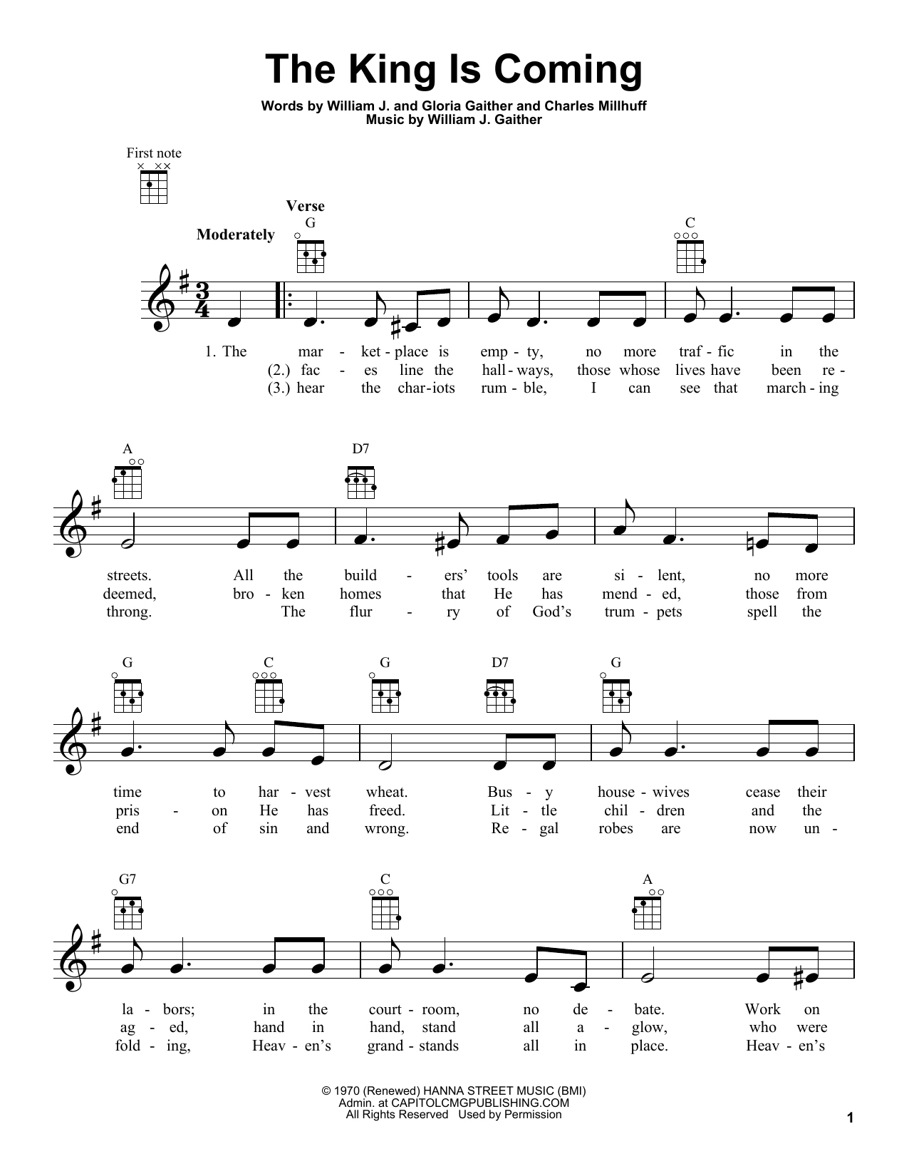 Charles Millhuff The King Is Coming sheet music notes and chords. Download Printable PDF.