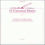 Download or print Charles Yates 12 Classical Duets (from 24 Duettos In An Easy, Pleasing Style) Sheet Music Printable PDF 24-page score for Classical / arranged Woodwind Ensemble SKU: 404876.
