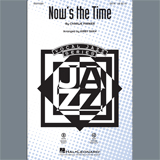 Download or print Charlie Parker Now's the Time (arr. Kirby Shaw) - Bass Sheet Music Printable PDF 2-page score for Blues / arranged Choir Instrumental Pak SKU: 403785.
