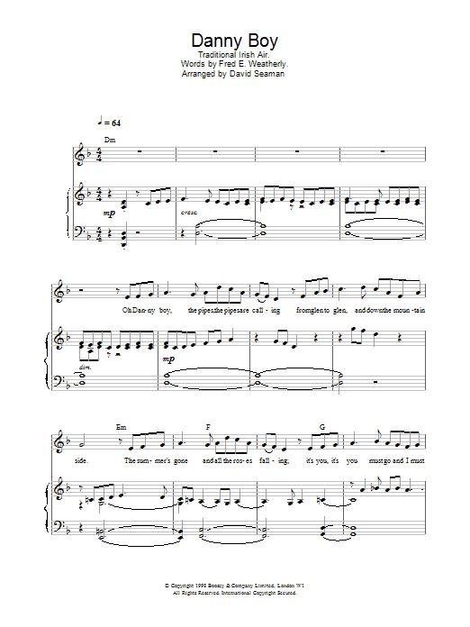 Charlotte Church Danny Boy (Londonderry Air) sheet music notes and chords. Download Printable PDF.