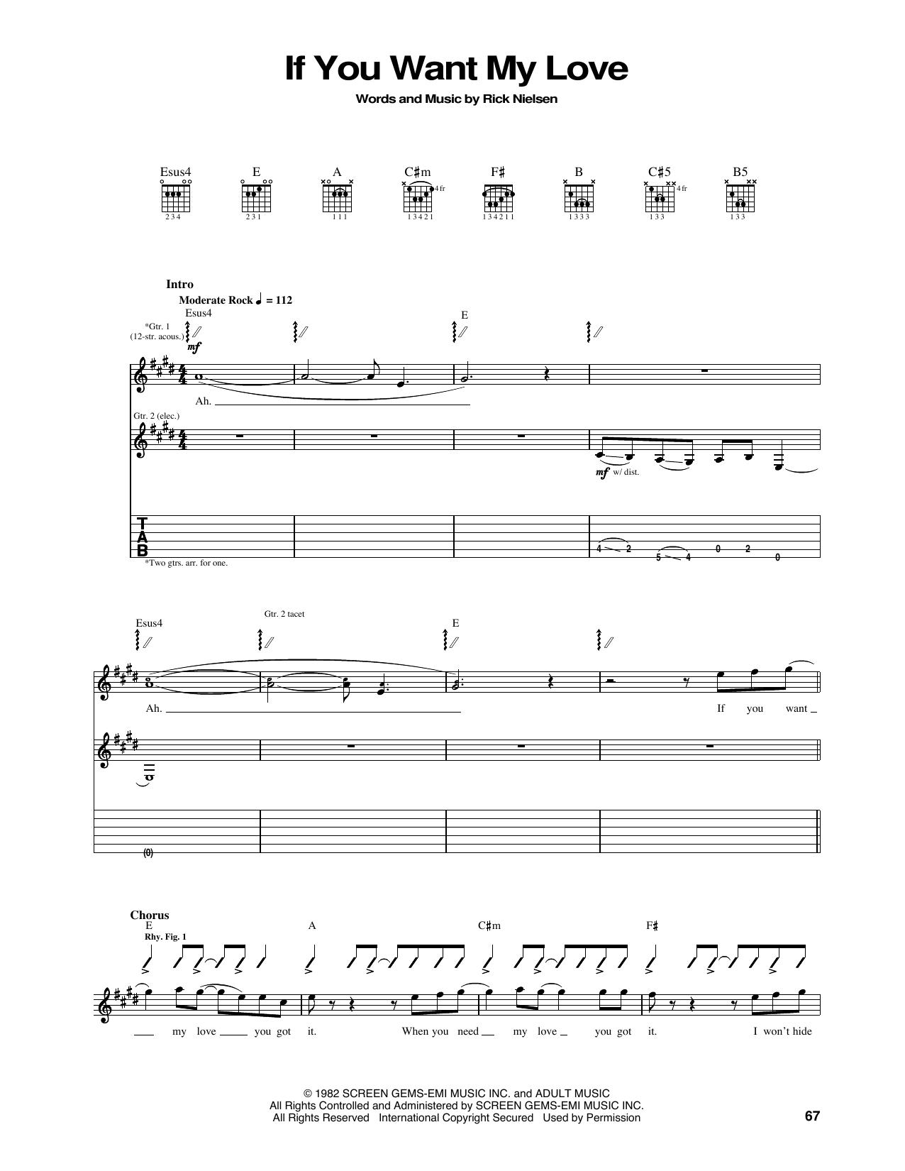 RICK NIELSEN GUITAR TAB MUSIC SONG BOOK CHEAP TRICK