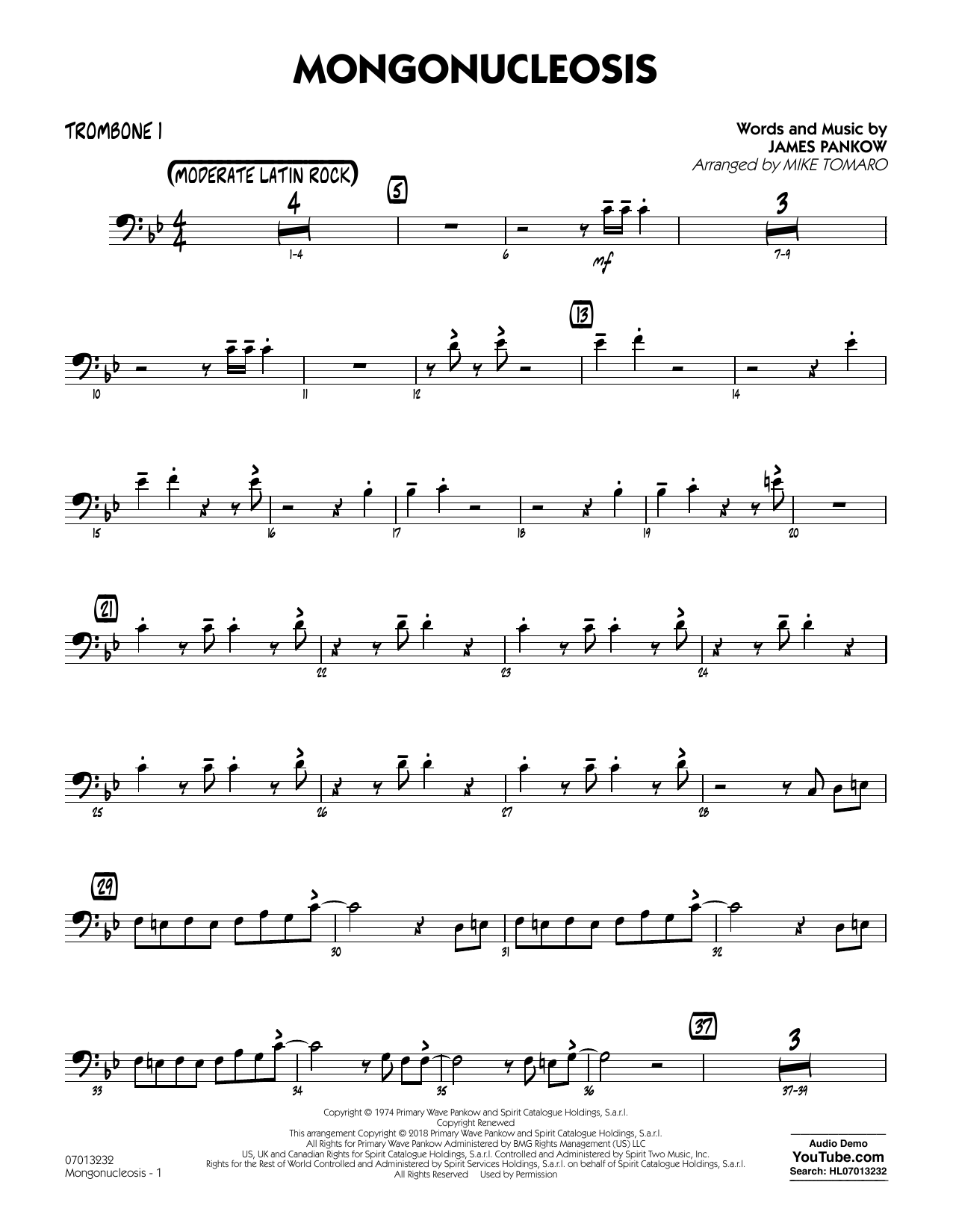 Chicago Mongonucleosis (arr. Mike Tomaro) - Trombone 1 sheet music notes and chords