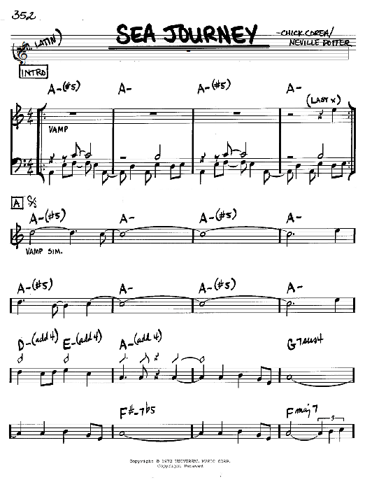 Chick Corea Sea Journey sheet music notes and chords. Download Printable PDF.