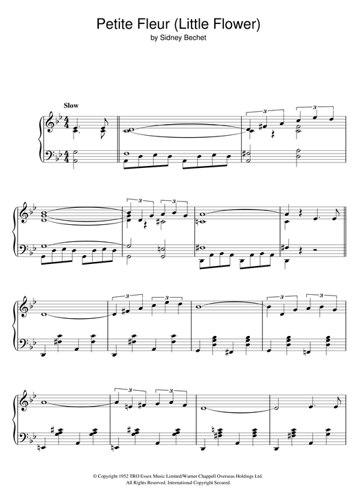 Chris Barber's Jazz Band Petite Fleur (Little Flower) sheet music notes and chords