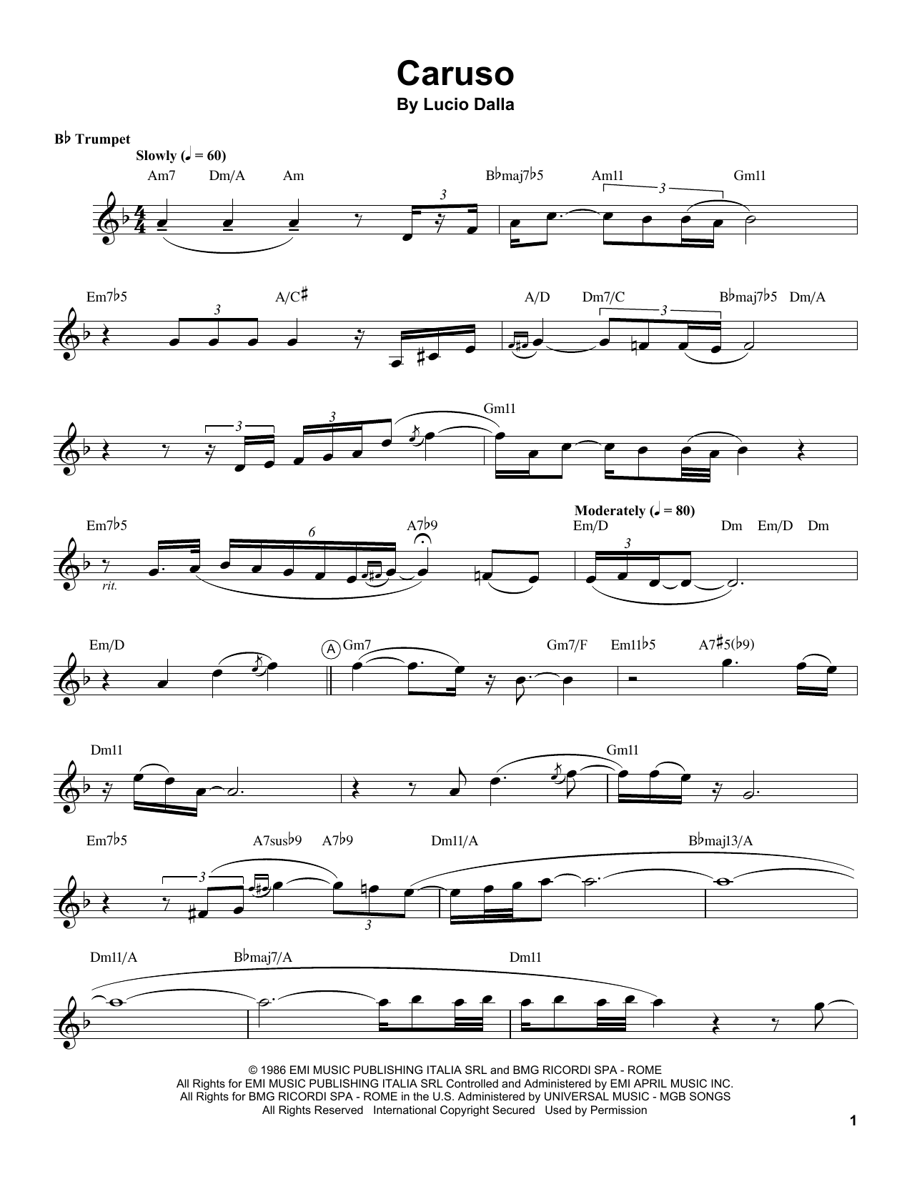 cute coupon code united states Chris Botti 'Caruso' Sheet Music Notes, Chords | Download Printable Trumpet  Transcription - SKU: 199027