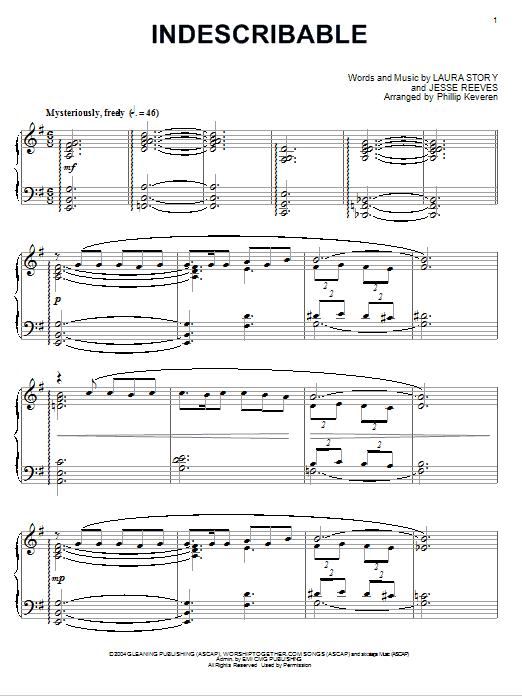 Chris Tomlin Indescribable [Jazz version] (arr. Phillip Keveren) sheet music notes and chords. Download Printable PDF.