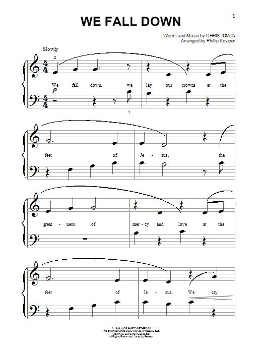 Chris Tomlin We Fall Down sheet music notes and chords. Download Printable PDF.