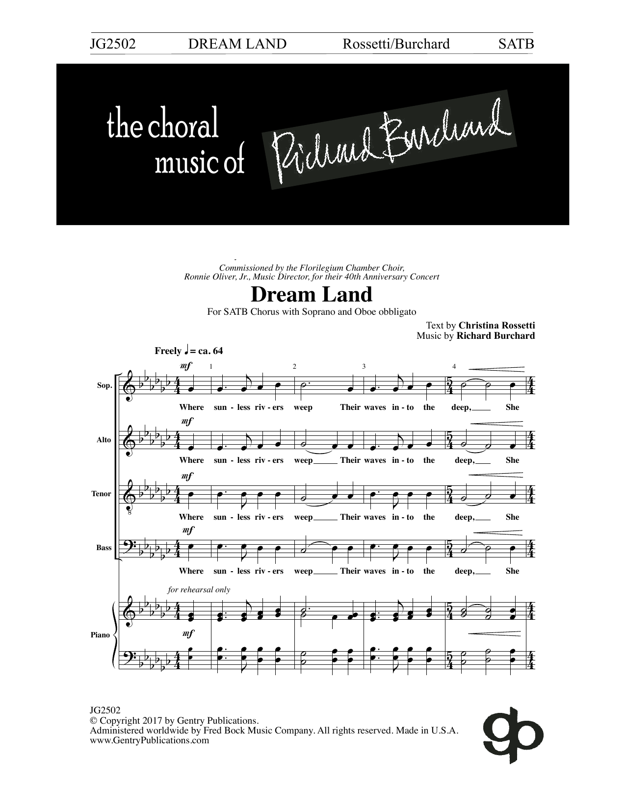 Christina Rossetti Dream Land sheet music notes and chords. Download Printable PDF.