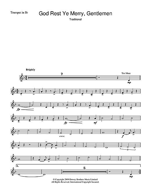 Christmas Carol God Rest Ye Merry, Gentlemen sheet music notes and chords. Download Printable PDF.