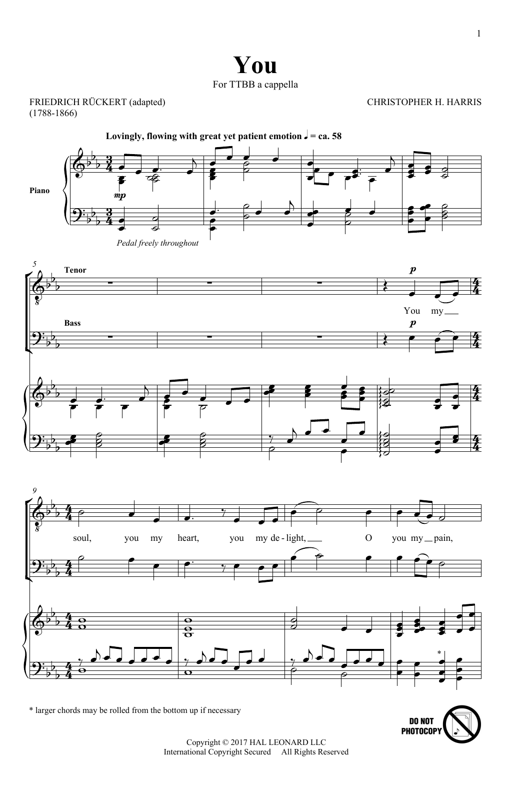Christopher Harris You sheet music notes and chords