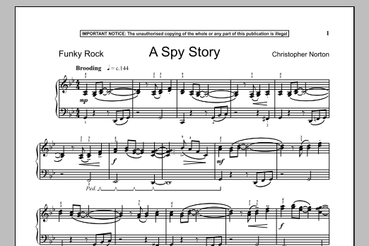 Christopher Norton A Spy Story sheet music notes and chords. Download Printable PDF.
