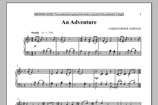 Christopher Norton An Adventure sheet music notes and chords. Download Printable PDF.