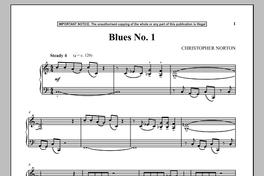 Christopher Norton Blues No. 1 sheet music notes and chords