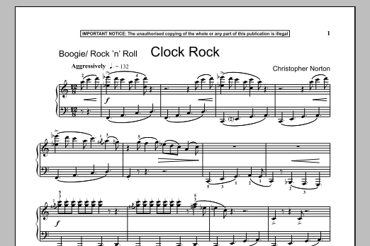 Christopher Norton Clock Rock sheet music notes and chords. Download Printable PDF.