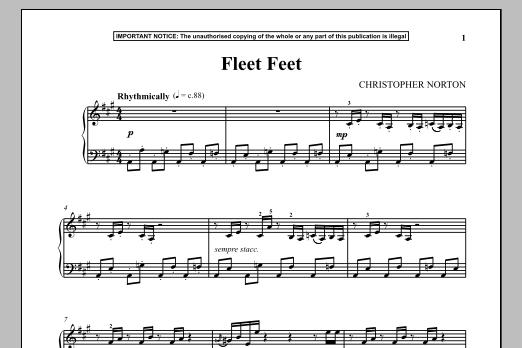 Christopher Norton Fleet Feet sheet music notes and chords. Download Printable PDF.