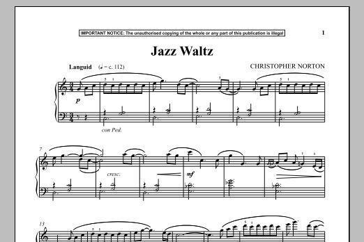 Christopher Norton Jazz Waltz sheet music notes and chords. Download Printable PDF.
