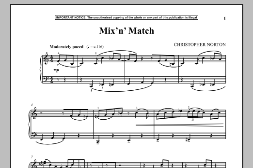 Christopher Norton Mix N Match sheet music notes and chords