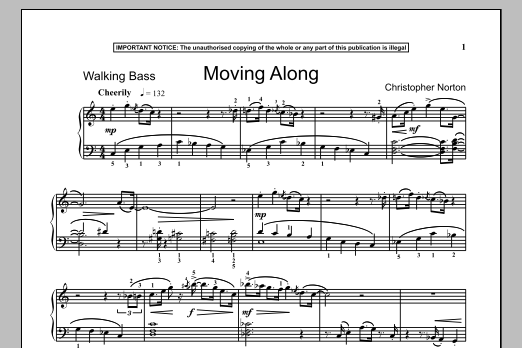 Christopher Norton Moving Along sheet music notes and chords. Download Printable PDF.