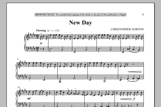 Christopher Norton New Day sheet music notes and chords. Download Printable PDF.