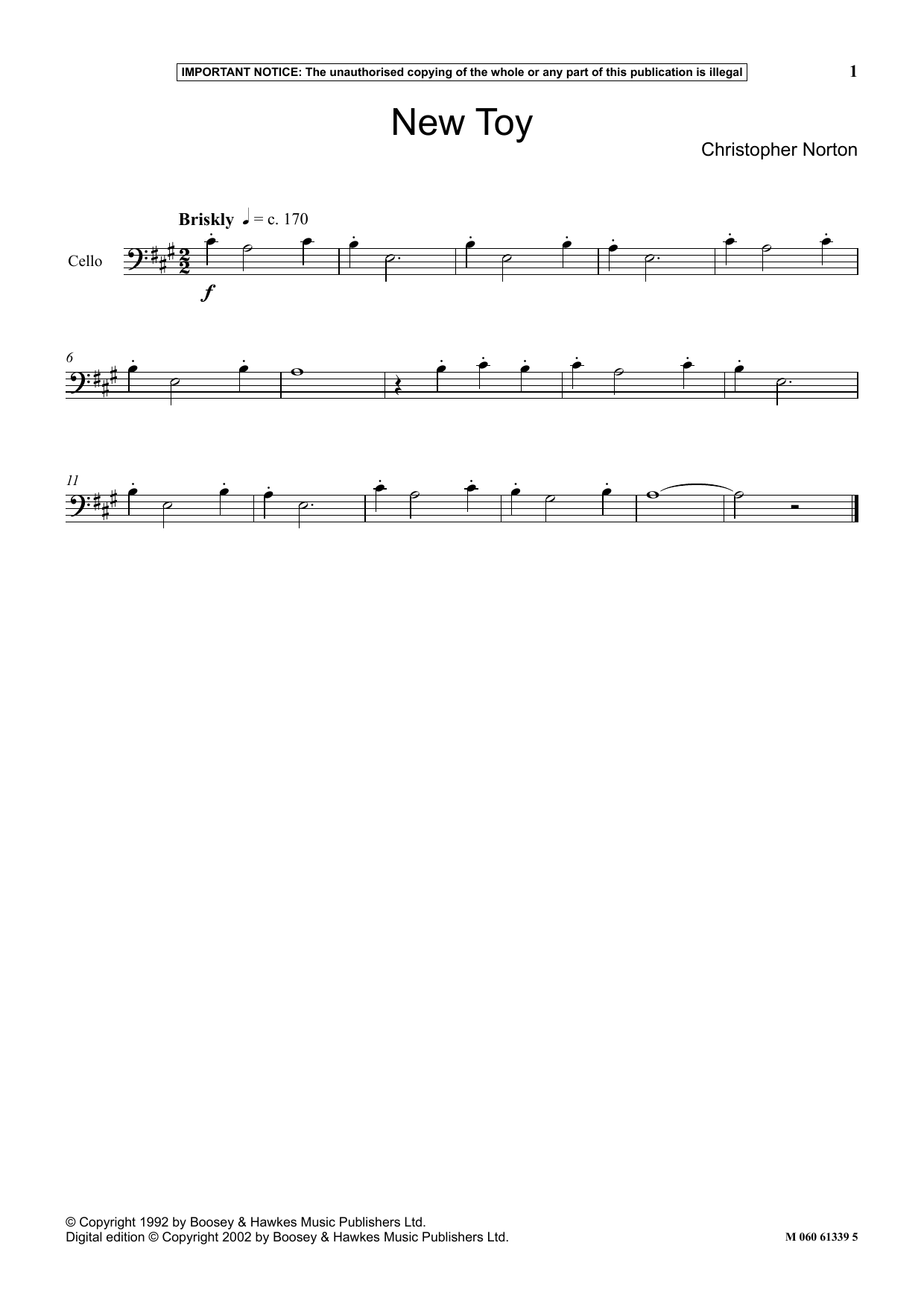 Christopher Norton New Toy sheet music notes and chords. Download Printable PDF.