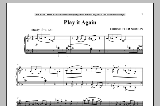 Christopher Norton Play It Again sheet music notes and chords