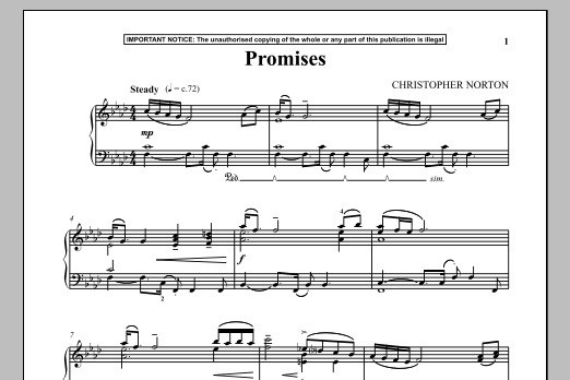 Christopher Norton Promises sheet music notes and chords. Download Printable PDF.