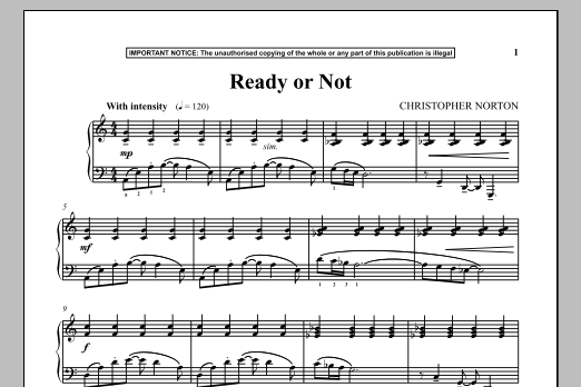 Christopher Norton Ready Or Not sheet music notes and chords. Download Printable PDF.