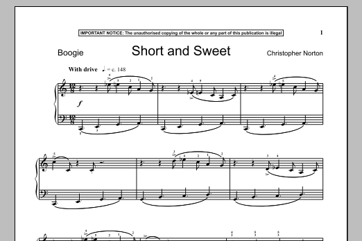 Christopher Norton Short And Sweet sheet music notes and chords