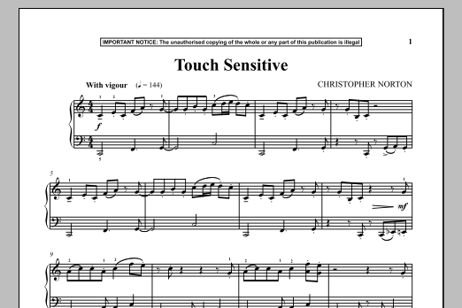 Christopher Norton Touch Sensitive sheet music notes and chords. Download Printable PDF.