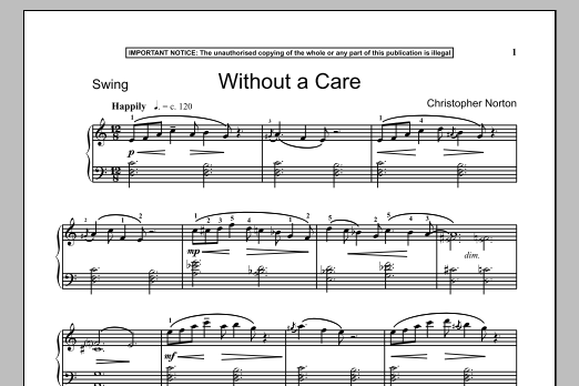 Christopher Norton Without A Care sheet music notes and chords
