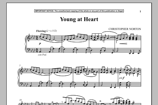 Christopher Norton Young At Heart sheet music notes and chords. Download Printable PDF.