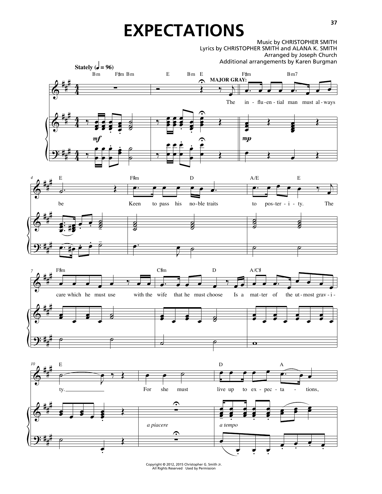 Christopher Smith Expectations sheet music notes and chords. Download Printable PDF.