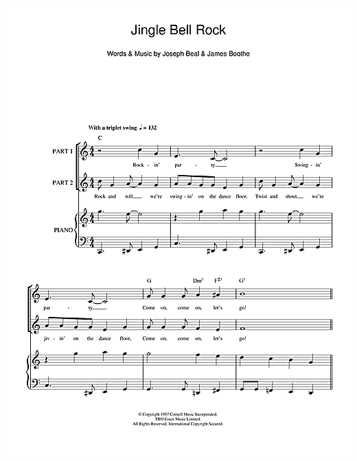 Chubby Checker Jingle Bell Rock sheet music notes and chords